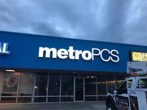 custom lighted storefront